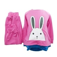 Harga fs setelan anak perempuan gambar kelinci lucu bahan tebal 3 8 | Pembandingharga.com