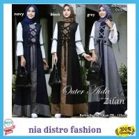 Gamis Fashion Muslim Outer Aida Dress Wanita Modern Terlaris