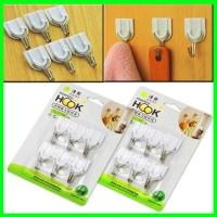Gantungan Hook Multifungsi Gantungan Dinding Isi 6 Organizer Pakaian G