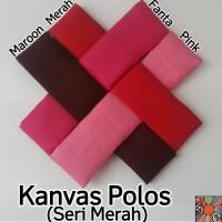 Kain Kanvas Polos Seri Merah