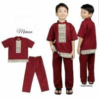 Set Koko Kid Verrel Maroon (alg) / baju anak muslim / stelan