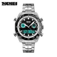 jam tangan pria rantai casio original Skmei Casual Anti Air import