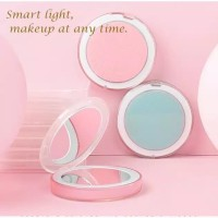 LED MIRROR USB RECHARGEABLE - MAKEUP CERMIN MINI TOUCHSCREEN IMPORT