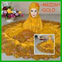 Mukena Al Maidah Gold kuning emas mukena katun paris mukena dewasa mu
