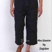 Celana Sirwal PREMIUM Zayidan (Ready JUMBO SIZE) - Abu Wasim - Hitam