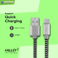 Hippo Valley 2 Type C Kabel Data & Charger 200cm