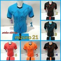 Mizuno terbaru 21 Setelan Kaos Olahraga Jersey Bola Baju Futsal Volly