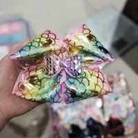 pita jepit jojo siwa with sequin flip bow unicorn/mermaid