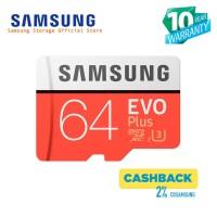 Samsung Evo PLUS 64GB MicroSDHC UHS-I Class 10 + SD Adapter