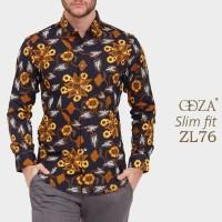 Baju Kemeja Batik Slim Fit / Baju Pria Lengan Panjang D383