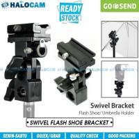 B Type Bracket Flash Hot Shoe - Umbrella Holder Swivel - For Speedlite