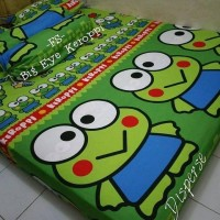 promo sprei homemade karakter anak moif Big Eye Keroppi uk 180x200