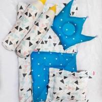 Set Baby Bed Gemes Karakter Anak Cewek Cowok Motif Triangle