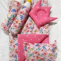 Set Baby Bed Gemes Motif Karakter Anak Cewek Cowok Butterfly
