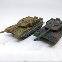 1/144 Tank Type 99 Bicolor Desert & NATO camouflage [airbrushed]