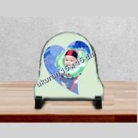 Rock Photo Oval 15 x 15 Cm Custom CL8204