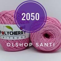 Benang Rajut POLYCHERRY Onitsuga warna PINK (2050)
