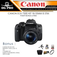 CANON EOS 750D KIT 18-55MM IS STM PAKET BONUS 6 ITEM - KAMERA SLR