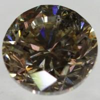 Berlian Certified 1.31 Carat Brilliant Brown Natural Loose Diamond