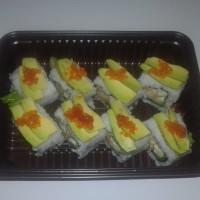 Sushi Dragon Roll set HALAL ala Chef Hotel Shangrilla