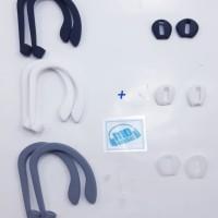 (Paket Hemat) Earhook Plus Eartips Ear Pads Iphone 7plus I7S Wireless
