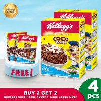 BUY 2 GET 2 - Kelloggs Coco Pops 400gr + Coco Loops 170gr