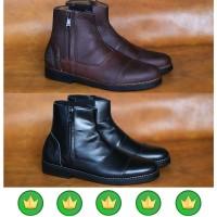 sepatu pria sepatu boots chelsea brodo kulit safety martens sx51