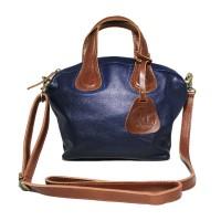 Hand Bag GVNCY Navy Jeruk -Kenes Leather