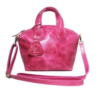Handbag Pullup GVCN Fuscia - Kenes Leather