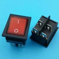 Saklar Switch On-Off 4 Pin Besar + Lampu