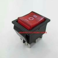 Saklar/Switch Besar On-Off-On 6 Pin + Lampu