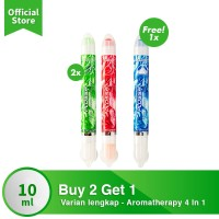 BUY 2 GET 1 Plossa Minyak Angin Aromatherapy Varian Lengkap [FS]
