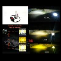 LED H1 TIGA WARNA | LAMPU LED TRIPLE COLOR | LED H1 PNP PROJECTOR