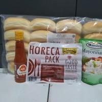 paket hemat hot dog bernardi 1 paket jadi 20 porsi