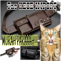 Tas Pinggang atau slingbag import kulit