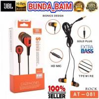 HEADSET JBL AT-081 ROCK EARPHONES / HANDSFREE JBL AT081 STEREO