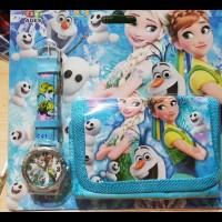 Gratis Ongkir Jam Tangan+Dompet Frozen/ Jam Tangan Frozen/ Jam Tangan