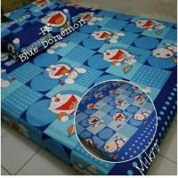 sprei homemade karakter anak motif doraemon blue size 160x200