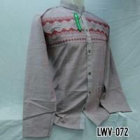 Grosir Baju Koko Pria Dewasa Muslim Lengan Panjang Baru Murah LWV 072