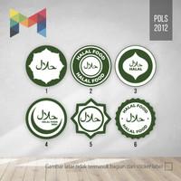 Cetak Stiker Halal - Label Makanan Halal Bulat 25 mm - PDLS2012