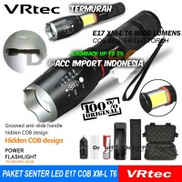Paket Hemat Senter E17 COB Senter LED Torch Cree XM-L T6 8000 Lumen