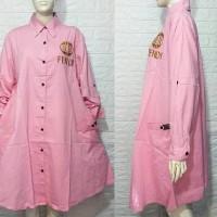 Kemeja putih jumbo/tunik jumbo murah/blouse big size/atasan jumbo xxxl