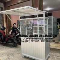 Gerobak Alumunium Penutup Depan
