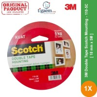 3M Double Tape Scotch Mounting 110-5C 18mm x 5m - Double Tape Kuat