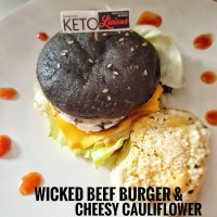Wicked Beef Burger & Cheesy Cauliflower KETO