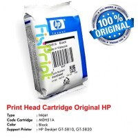 Head Cartridge Printer HP GT5810 GT 5810 GT5820 M0H51A Black Original