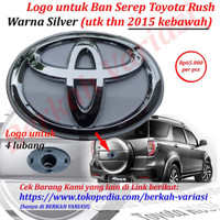 Emblem - Logo Tutup - Cover Belakang Ban Serep Toyota Rush - Silver