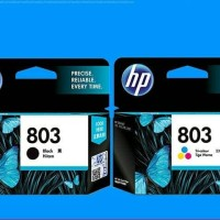 Tinta HP paket 803 black + 803 colour original