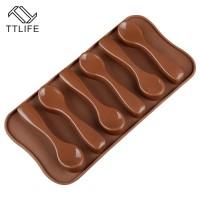 Ttlife Sendok Bentuk Silikon Cokelat Cetakan Es Batu Nampan Cetakan