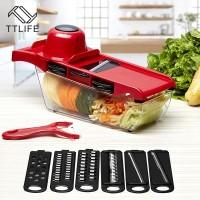 Ttlife Bulat Vegetable Cutter Kentang Wortel Parutan Slicer dengan 3